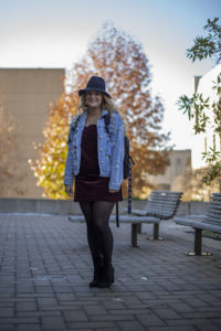 Emily Martin stands outside of the Bond Life Sciences Center.