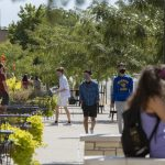Students walk on campus outside the Student Center Aug. 19, 2020. Sam O'Keefe/University of Missouri