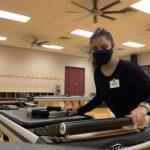 picture of Kathleen Gomez working in the Pilates studio