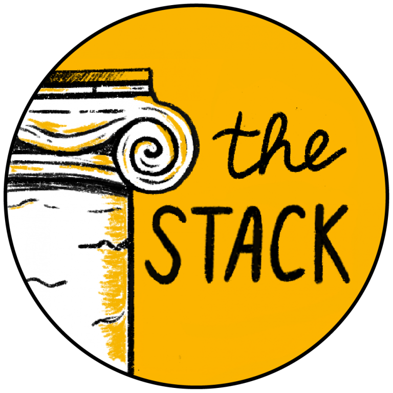 """Black and gold Mizzou graphic that says """"the Stack"""""""