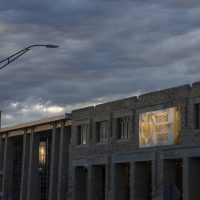 Tigers Support Tigers sign highlighted as the sun sets on the Student Center Nov. 12, 2020. Sam O'Keefe/University of Missouri