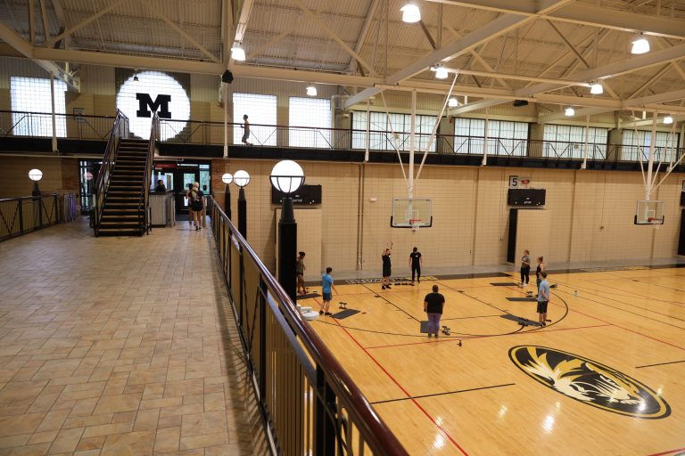 MizzouRec morning boot camp is just one of many daily activities planned for Welcome Week. Sam O'Keefe/University of Missouri